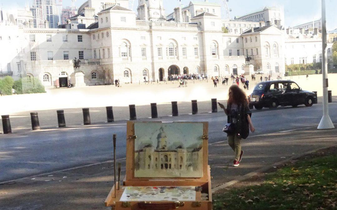 Plein air paint out St James's Park, London