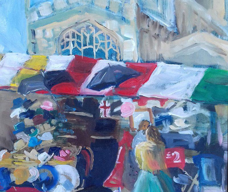 Cambridge Market, David's Hat Stall